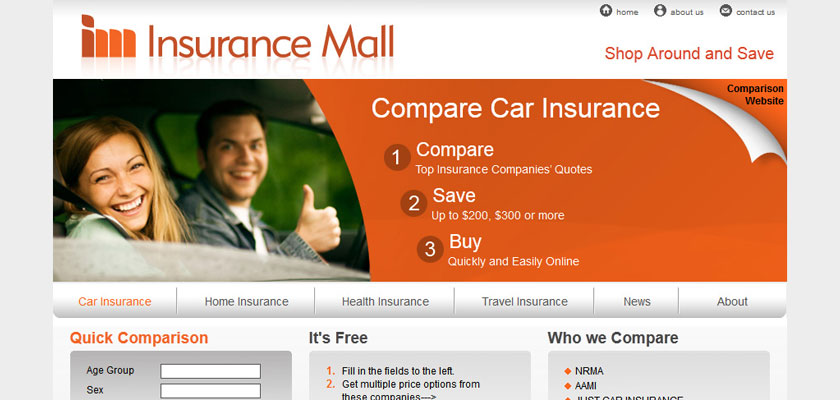Insurance Mall Website Design